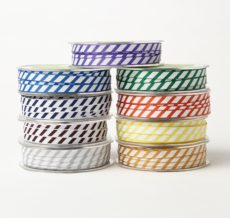 Grosgrain Ribbon w/ Diagonal Stripes