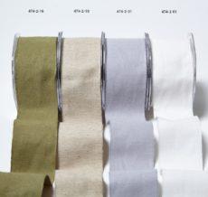"""474 2""""x10y Burlap/Cotton Ribbon Group"""