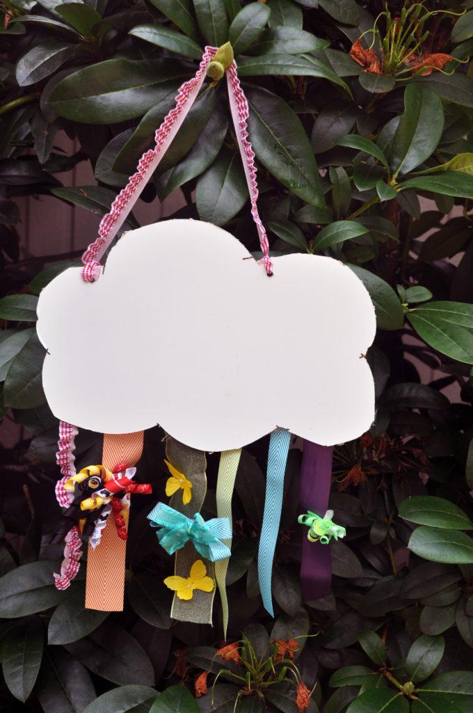 Rainbow Cloud Hair Bow Holder