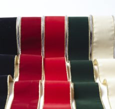 """535 2.5""""x10y Velvet with Gold Backing Family"""