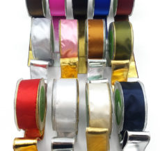 Reversible Metallic Wired Ribbons