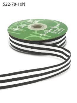 black and white striped grosgrain ribbon