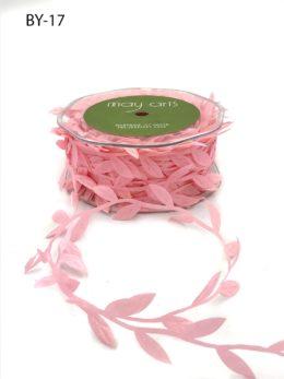 light pink leaf ribbon