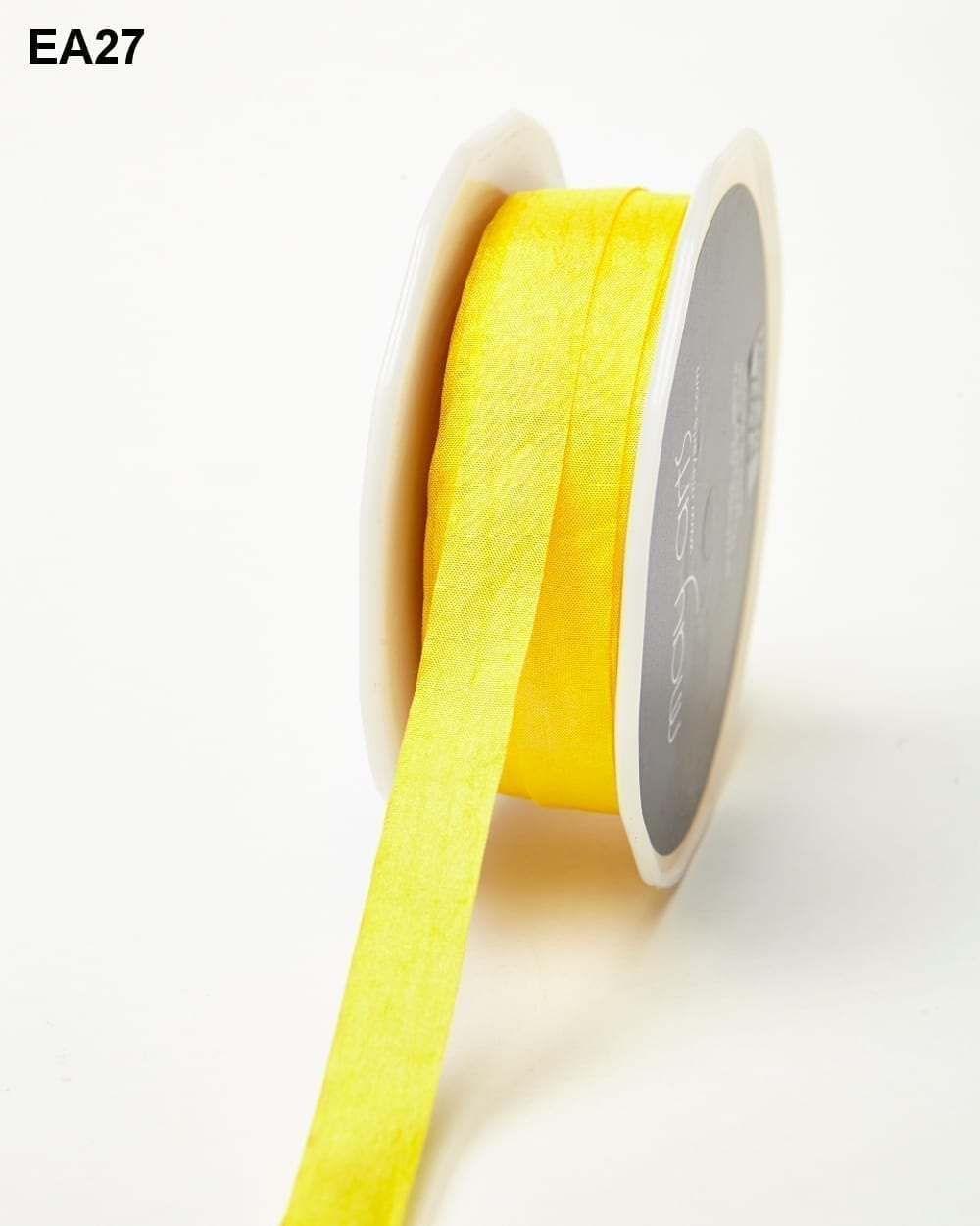 Yellow Solid Wrinkle Ribbon