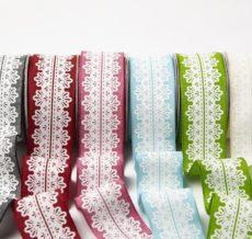 White Lace Center Design Ribbon