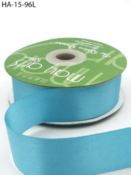turquoise double face satin ribbon