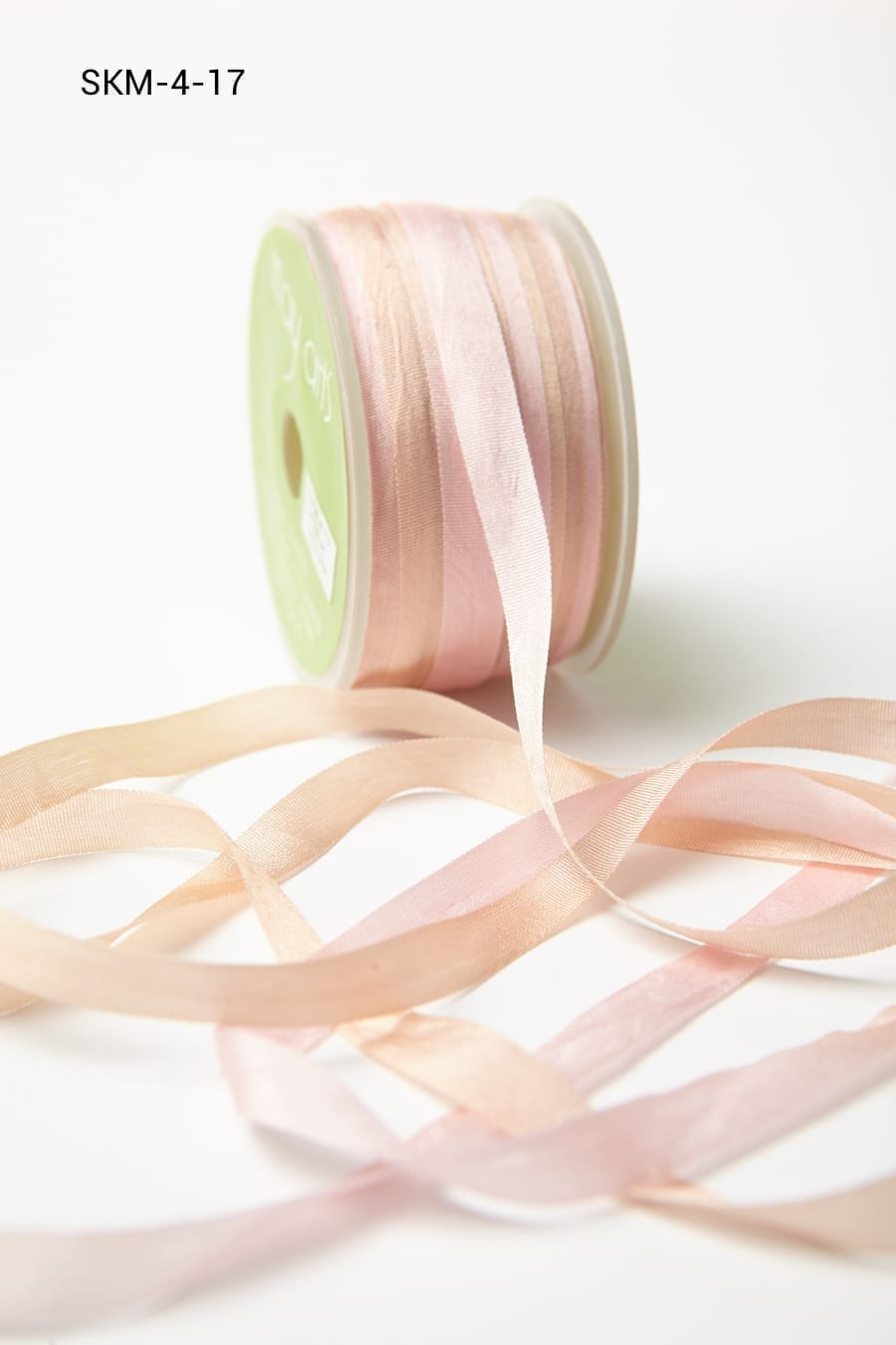 Pink/Champagne Variegated Silk Ribbon