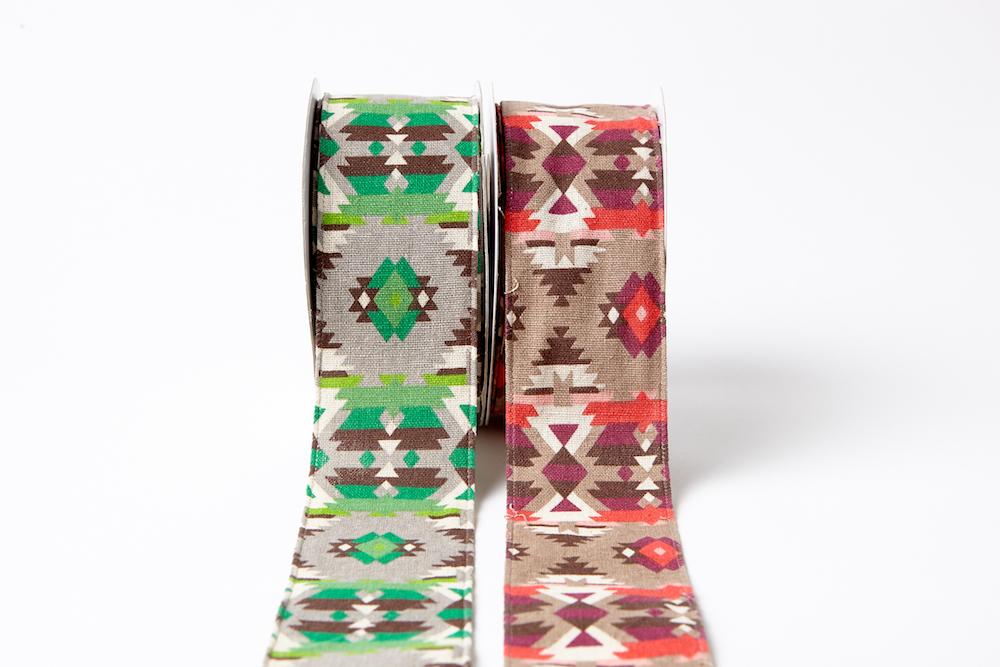 2.5 Inch Southwestern Graphic Pattern Ribbon