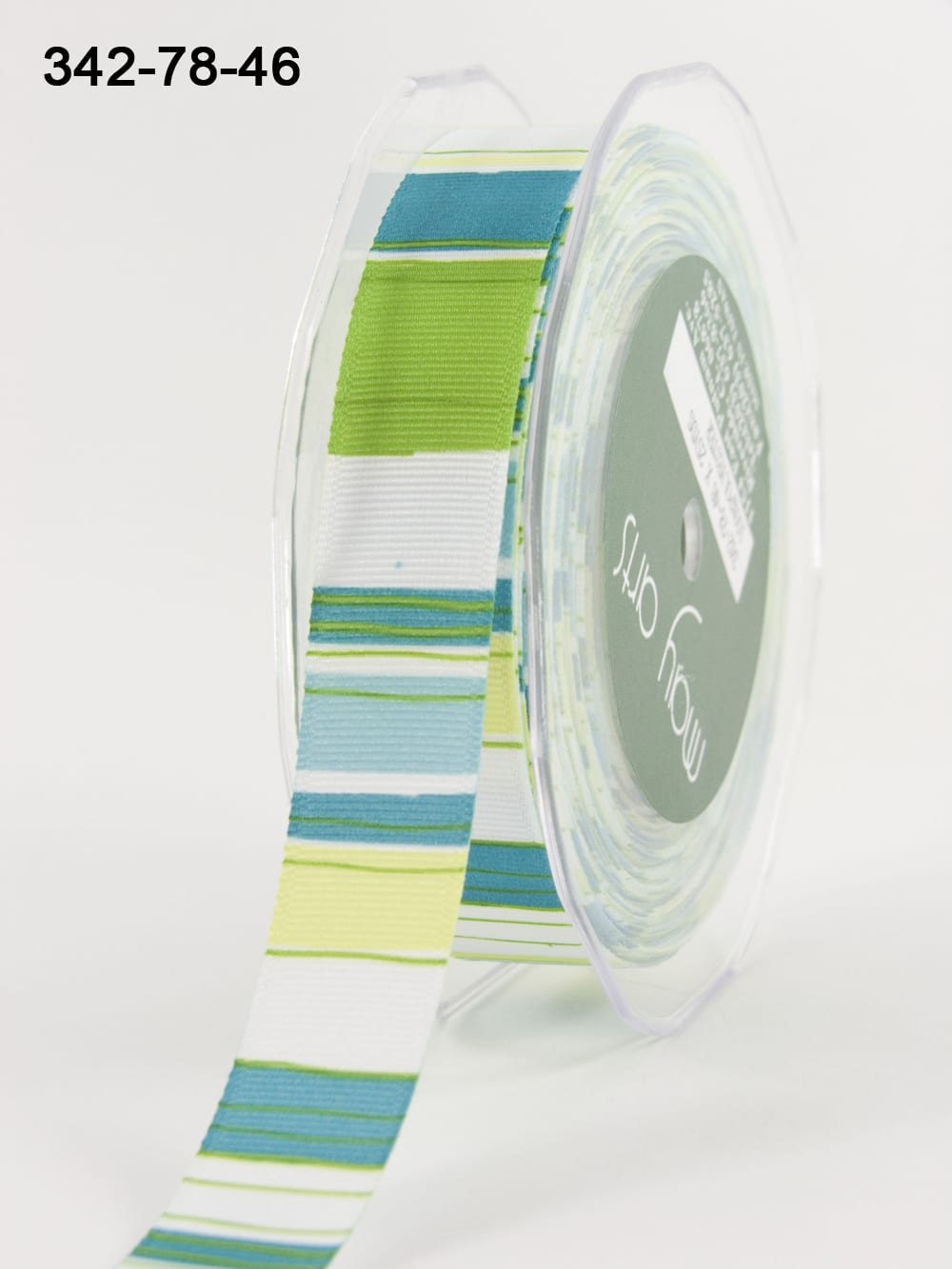 Variation #154123 of 7/8 Inch Grosgrain / Horizontal Stripes Ribbon 1