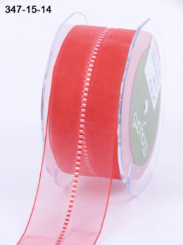Variation #154155 of 1.5 Inch Sheer / Satin Stitched CTR Ribbon
