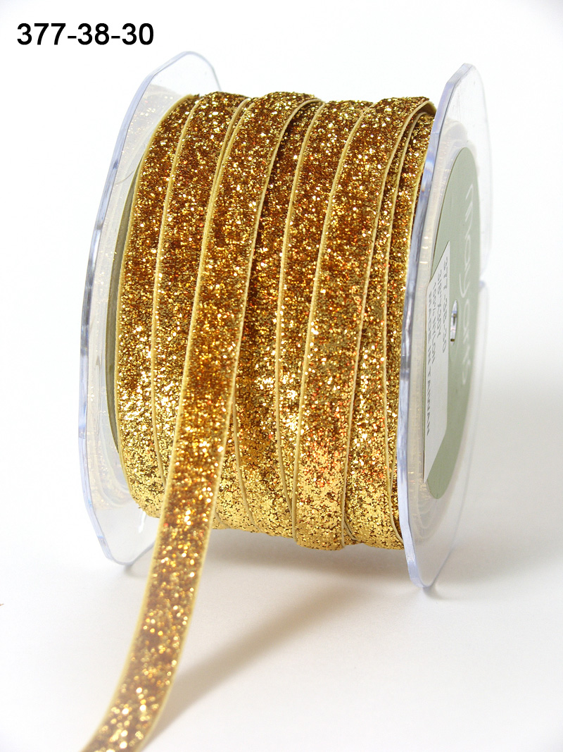 Variation #154517 of 3/8 Inch Metallic / Velvet Ribbon 1