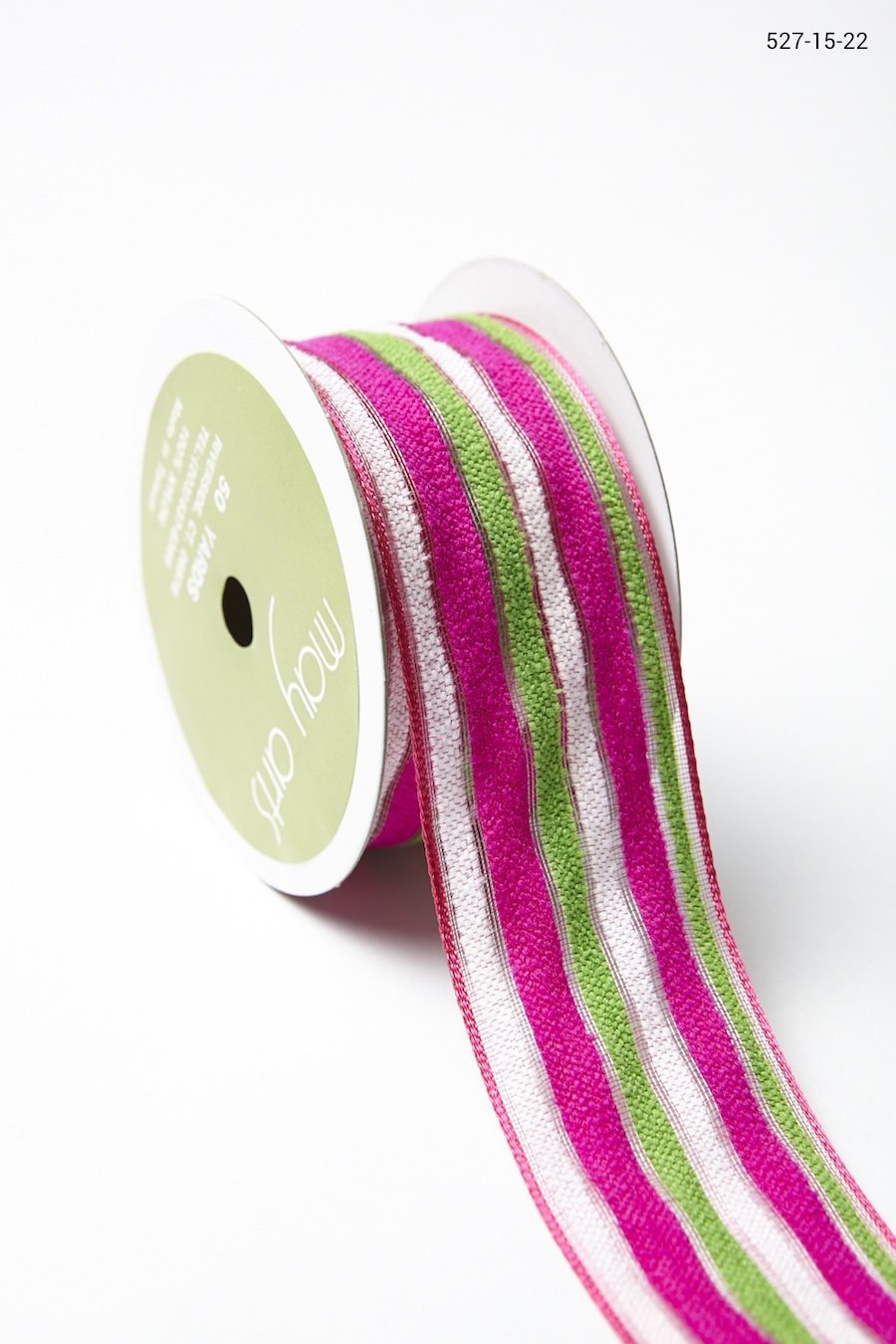 Variation #156056 of 1.5 Inch Fuzzy Multi-Stripe Ribbon