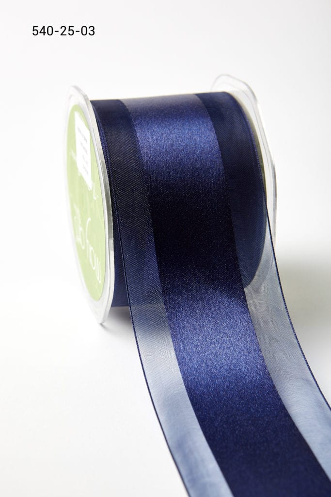 Variation #157357 of 2.5 Inch Sheer with Satin Center Ribbon