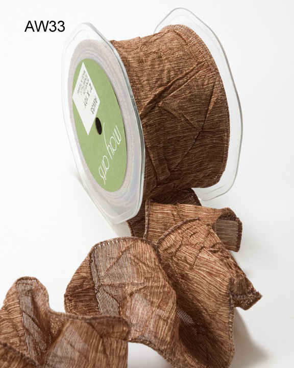 Variation #148619 of 2 Inch Solid Crushed Wired Ribbon 1