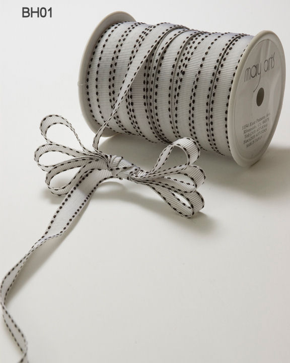 Variation #148665 of 3/8 Inch Grosgrain Stitched Edge Ribbon