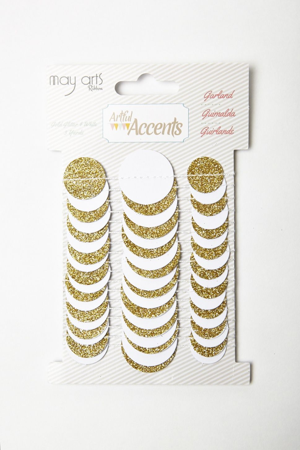 Variation #0 of Gold Glitter Dot Paper Garland 1