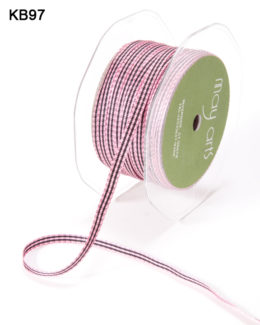 Variation #151063 of 3/16 Inch Solid Checkered Ribbon
