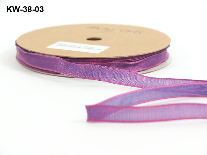 Variation #151322 of 3/8 Inch Woven / Iridescent / Wired Ribbon 1