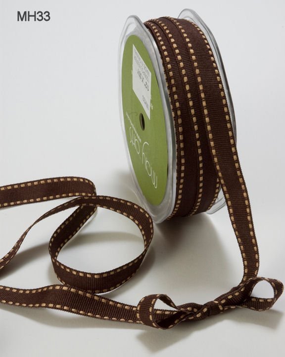 Variation #151356 of 1/2 Inch GROSGRAIN/STITCHED EDGE Ribbon 1
