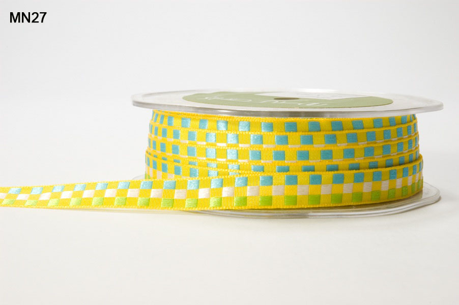 Variation #151403 of 3/8 Inch WOVEN CHECK Ribbon 1