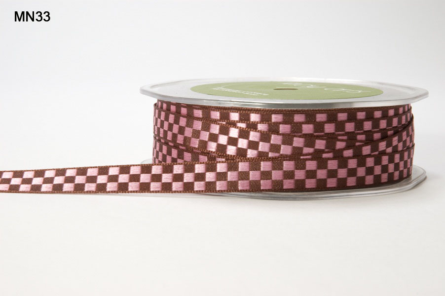 Variation #151406 of 3/8 Inch WOVEN CHECK Ribbon