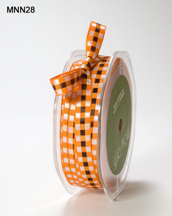 Variation #151472 of 3/8 Inch SOLID/WOVEN CHECK Ribbon 1