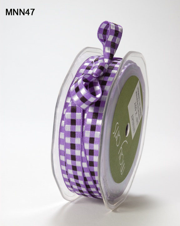 Variation #151475 of 3/8 Inch SOLID/WOVEN CHECK Ribbon 1