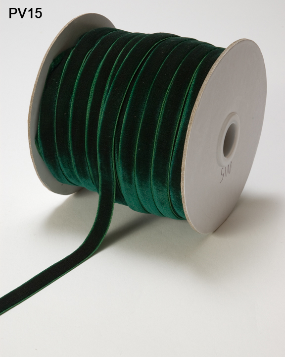 Variation #0 of 3/8 Inch Velvet Woven Ribbon 1