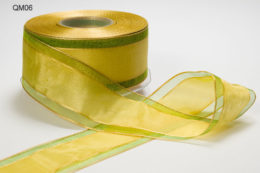 Variation #152182 of 1.5 Inch Sheer Center Band Ribbon
