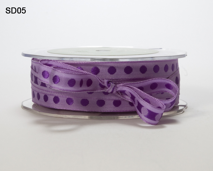 Variation #152578 of 3/8 Inch Solid Center Dot Ribbon 1