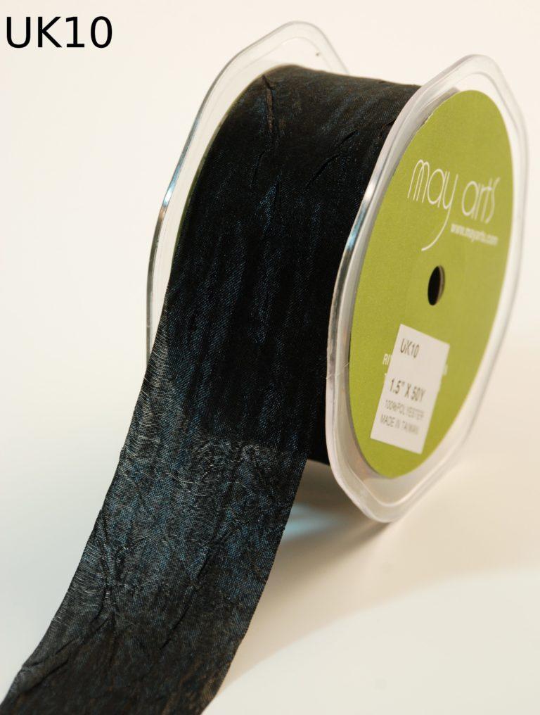Black Silky Crush Ribbon