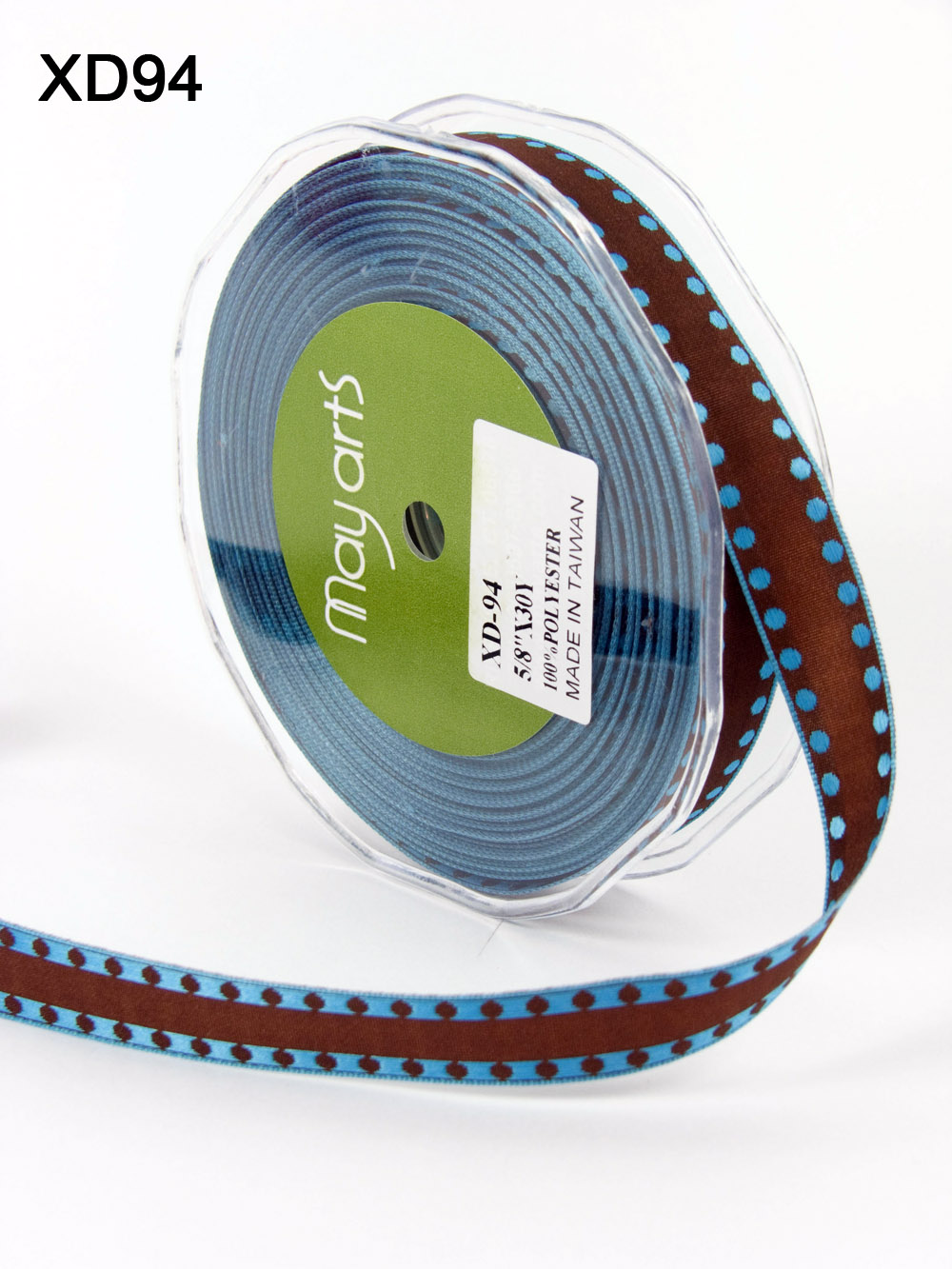 Variation #153665 of 5/8 Inch Solid / Dot Edge (Wired) Ribbon 1