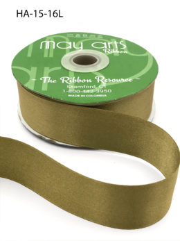 olive green double face satin ribbon