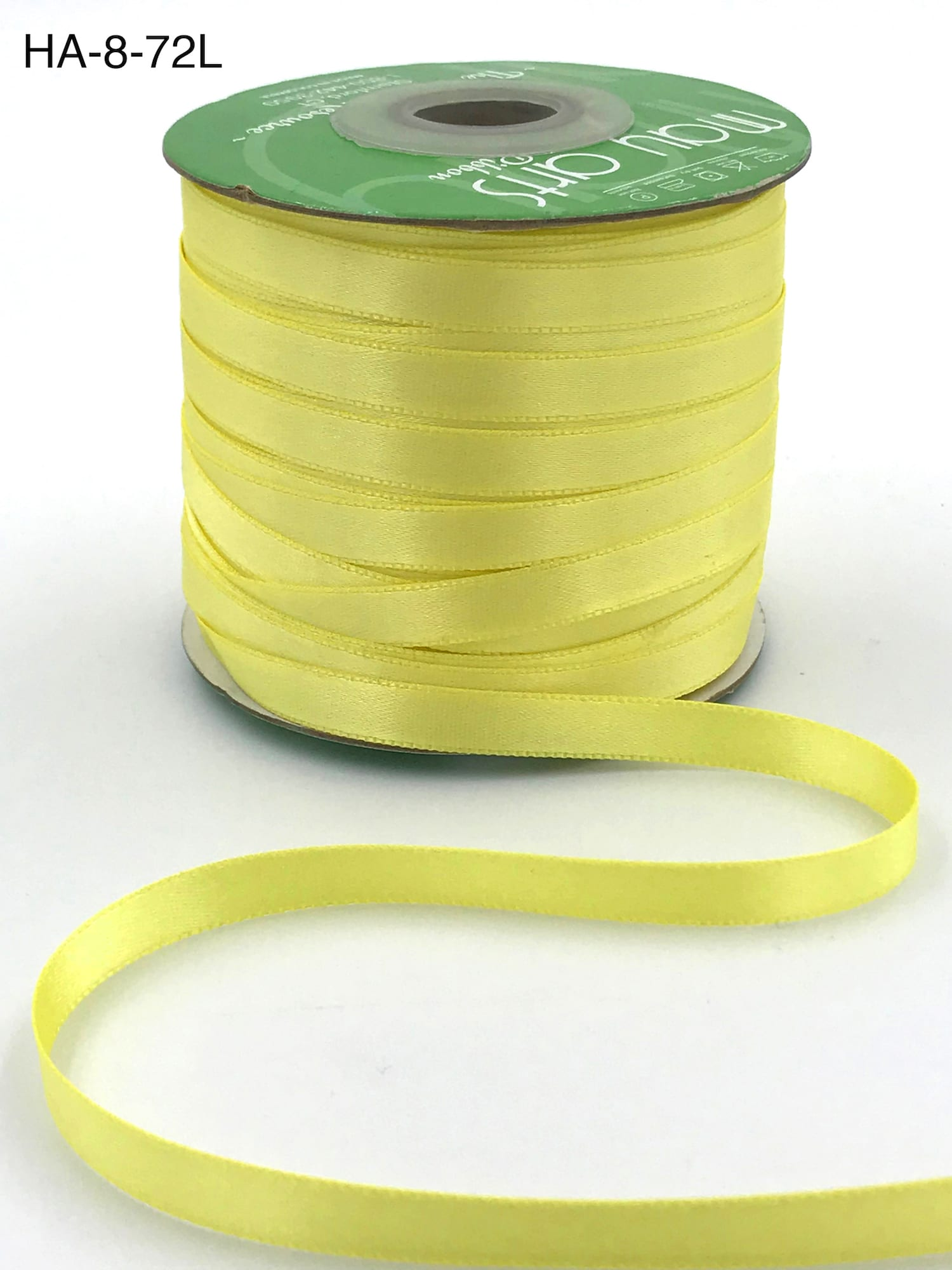 lemon double face satin ribbon