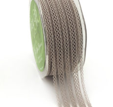 gray batiste lace elastic ribbon