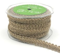 burlap jute galloon braided trim