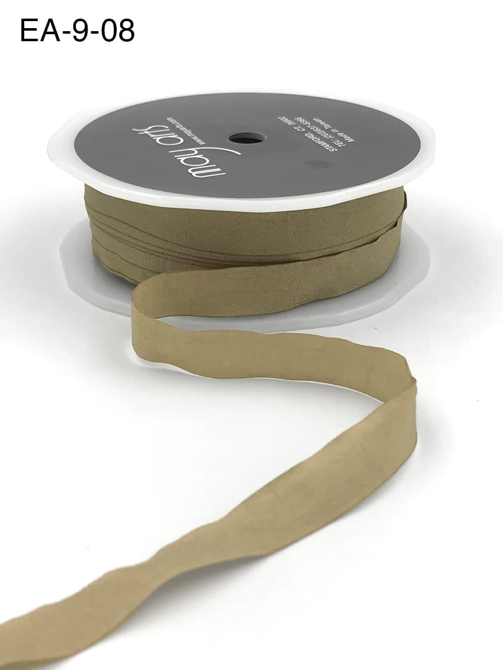 taupe brown faux silk wrinkled ribbon
