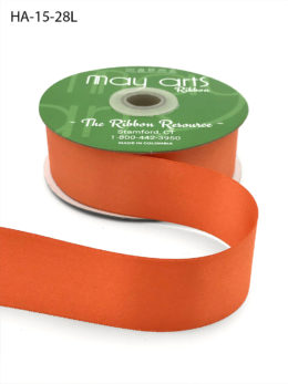 orange double face satin ribbon