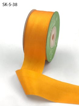 Cadmium Yellow Hand Dyed Silk Ribbon