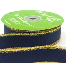 navy metallic gold fringe grosgrain ribbon