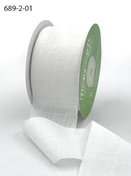 white crinkle chiffon wedding ribbon