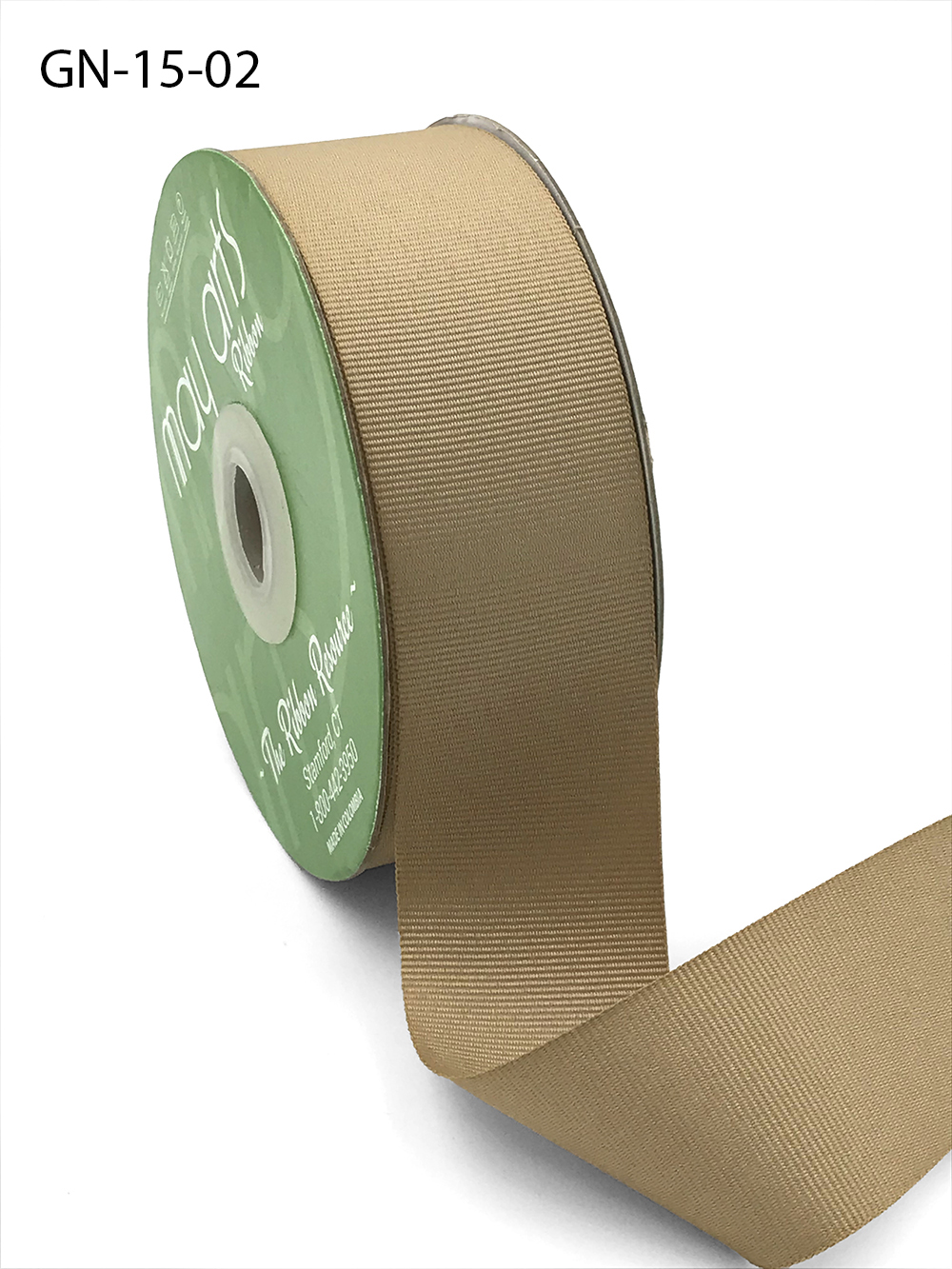 1.5 Inch Light-Weight Flat Grosgrain Ribbon with Woven Edge - GN-15-02 Champagne
