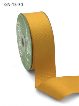 1.5 Inch Light-Weight Flat Grosgrain Ribbon with Woven Edge - GN-15-30 Gold