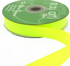~3/4 Inch Light-Weight Flat Grosgrain Ribbon with Woven Edge - GN-34-57 Neon Yellow