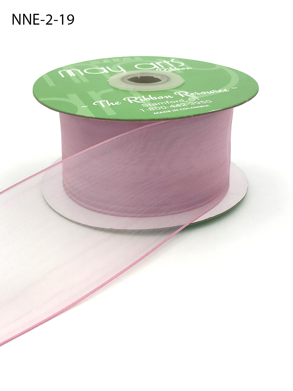 2 Inch Flat Soft Sheer Ribbon with Thin Solid Woven Edge - NNE-2-19 MAUVE