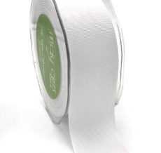 1.5 Inch Heavy-Weight (higher thread count) Classic Grosgrain Ribbon with Woven Edge - SX-15-01 White