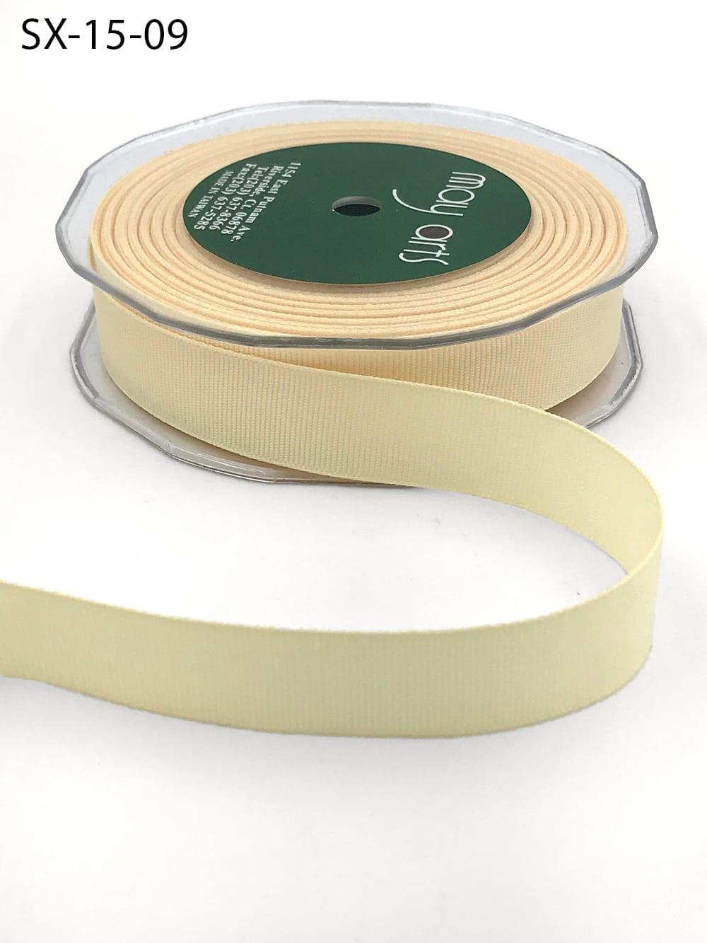 3/4 Inch Heavy-Weight (higher thread count) Classic Grosgrain Ribbon with Woven Edge - SX-34-09 Ivory